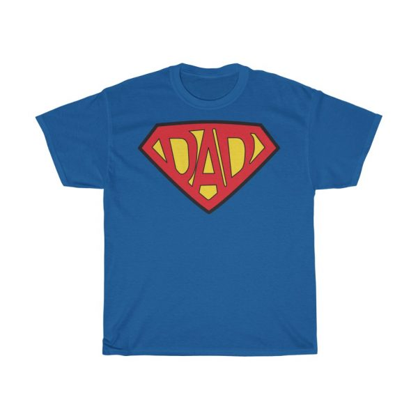 Superdad Superman Style Tee Shirt, Fathers, Dad Gift