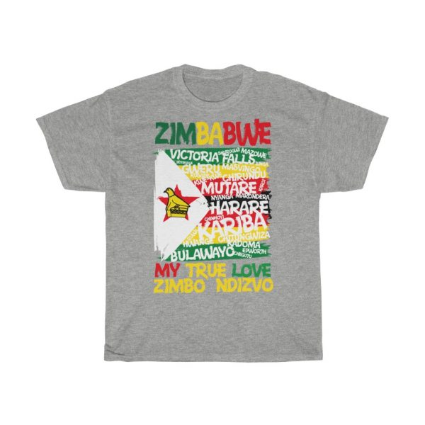 Zimbabwe Towns and Cities Patriotic T-Shirt (S to 5XL)