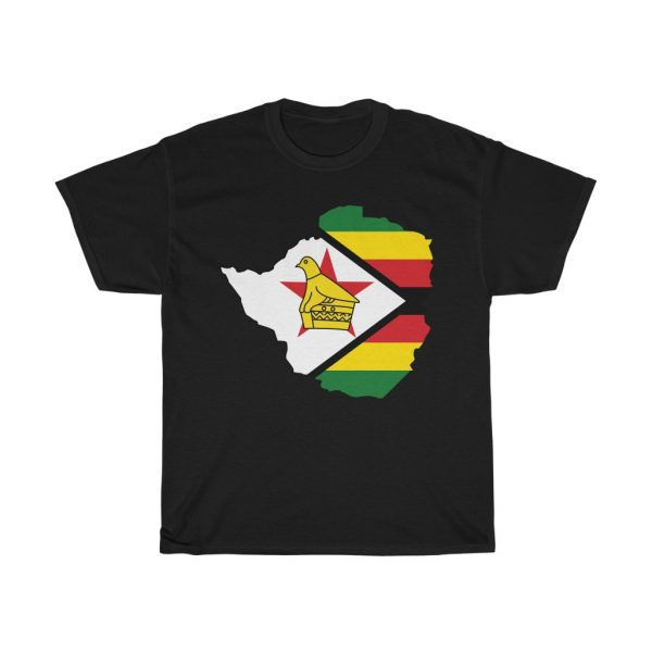 Zimbabwe Map and Flag T-Shirt (S to 5XL)
